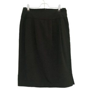 Black Chenault Pencil Skirt Polka Dot US 6